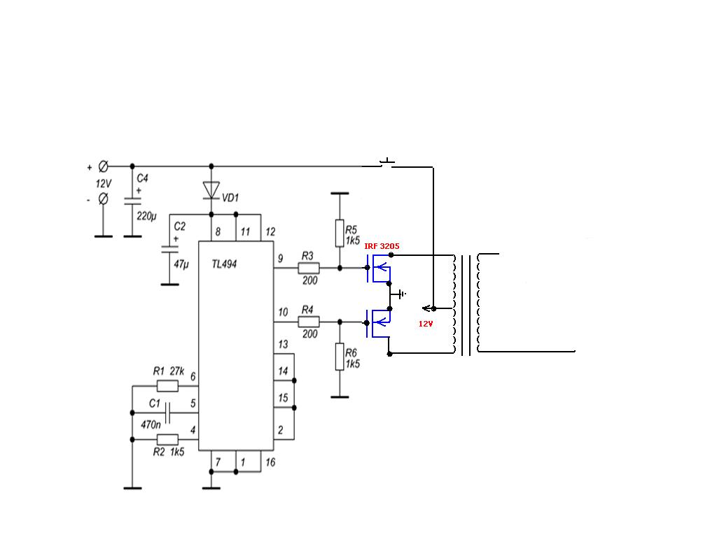 bạn nào có mạch inverter dùng ic tl494 cho mình xin - Điện tử Việt Nam