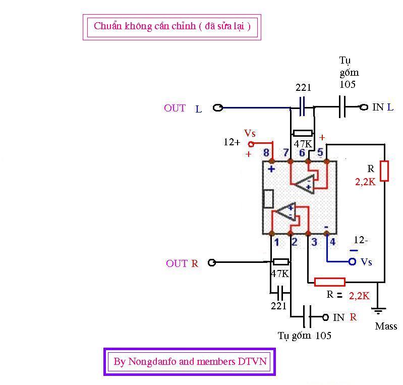 Xin ý kiến về mạch Pre 4558 JRC - Điện tử Việt Nam